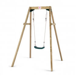 Balançoire en bois Wooden single swing Plum