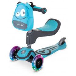 Trottinette 3 roues Scooter T1 3 en 1 bleue